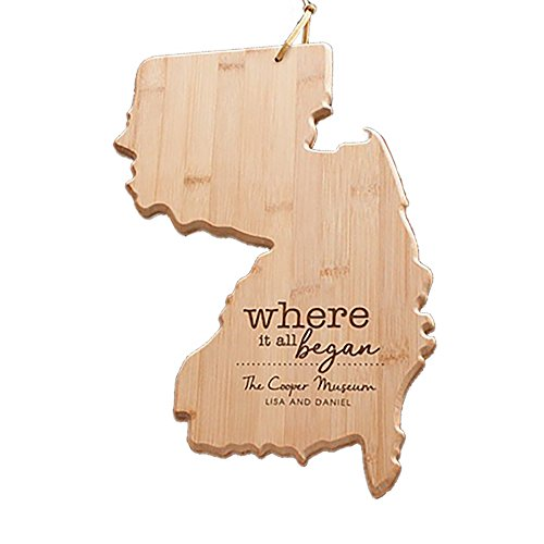 Engraved Where It All Began New Jersey State Cutting Board, Bamboo, Personalized