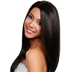 360 Lace Frontal Wig Peruvian Virgin Human Hair Straight Wigs 130% Density Pre-Plucked Hairline Natural Color 360 Lace Wigs with Baby Hair(10inch)…