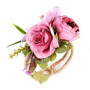 potato001 Rural Style Wrist Corsage Bracelet Wedding Party Bridesmaid Sisters Hand Flower 94