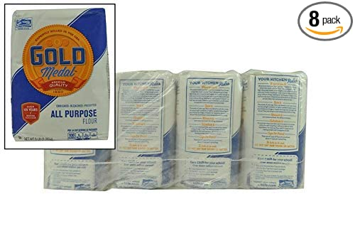 Amazon Com Gold Medal Flour All Purpose 8 Bags 5 Lbs Each Wheat Flours And Meals Grocery Gourmet Food