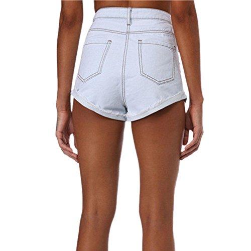 Vita Vintage Denim Stampata Fiore Hot Allentato Shorts Pants Estate Corti A Jeans Ricamo Minetom Donne Alta Casuale Pantaloncini Moda Sexy 1Cgqg0