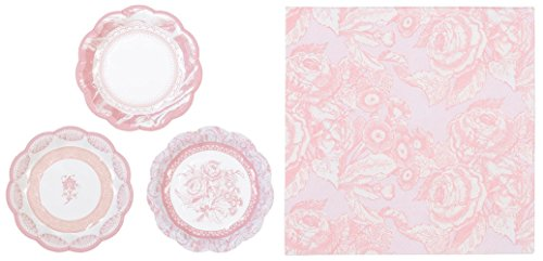 Talking Tables Party Pack- Party Porcelain Rose Small Plates and Cocktail Napkins