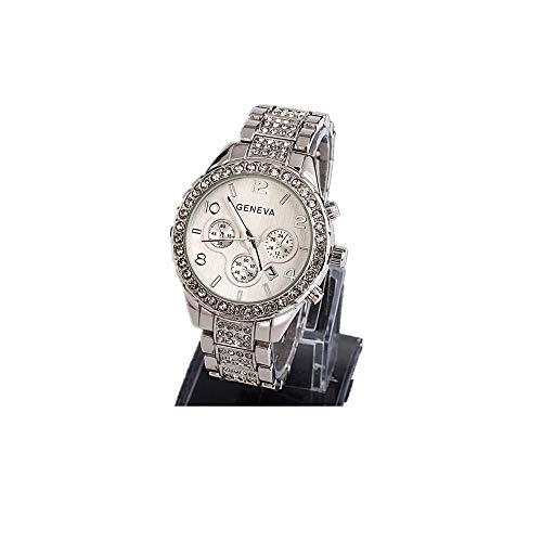 YANG-YI Women Watches Bling Bracelet Fashion Luxury Crystal Quartz Wrist Watch Business Wristwatch Silver