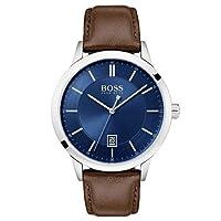 Relógio Hugo Boss Masculino Couro Marrom - 1513612