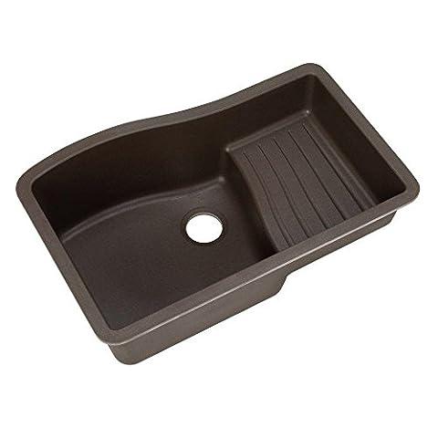 Swanstone QUAD-3322.170 33-Inch by 22-Inch Undermount Ascend Bowl Kitchen Sink, Espresso (Brown Granite Kitchen Sinks)