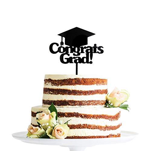 Congrats Grad Cake Topper - Graduation Cake Topper - Graduation Party Supplies - Grad Decoration ()