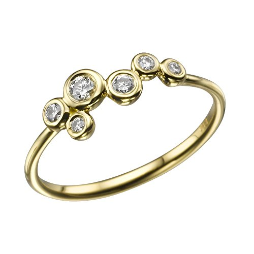 1/6 cttw Bubbles Diamond Ring in 14k Yellow Gold-Size 5.5 - 14k Yellow Gold Bubble