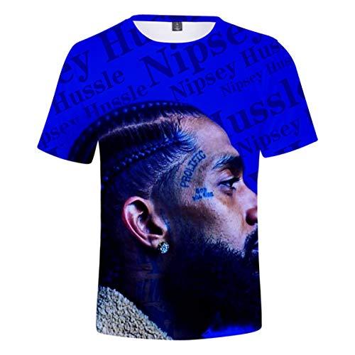 - Hip Hop Rap Singer Nipsey Hussle 3D Printed Men's Short Sleeve T-Shirt Unisex T-Shirts Shirts Q-3876 XL