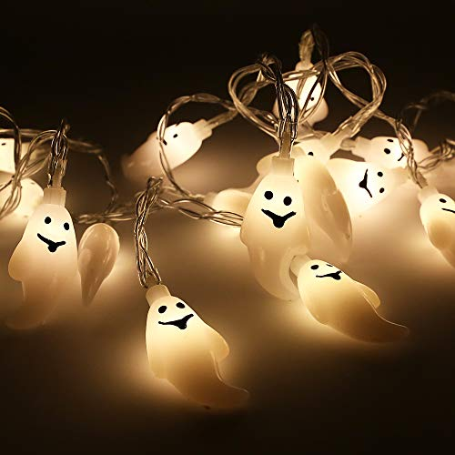 Xplanet Halloween Lights LED String Lights, Batman Pumpkin Skull Ghost 20 LED Lights Battery Operated for Indoor Outdoor Cosplay Halloween Party Home -