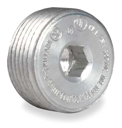 Killark CUP-4 Recessed Plug, Copper-Free Aluminum, 1-1/4'' Hub