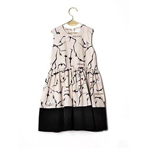 Girls Clothes Sets Summer Bobo Choses Wolf Rita Graffiti Print Sleeveless T-shirt Skirt Dress Boys Shirt