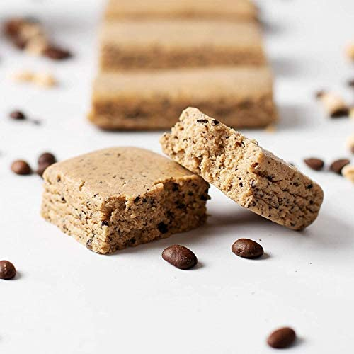 Protein Coffee Energy Bar, Made with Five Simple Ingredients, All Natural, Gluten Free, Non GMO 16g of Protein, Made with Real Coffee Almond Butter – Caffeinated