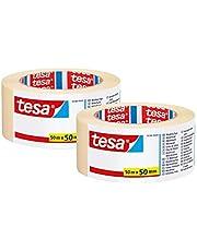 TESA Universele schildertape, veelzijdig plakband voor schilderwerk zonder oplosmiddel (2 rollen)