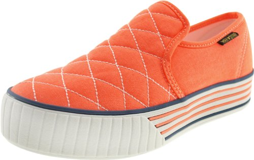 Maxstar C30 Low-Top Stitch Slip-Ons Sneakers Shoes Orange F3xvoQdYq