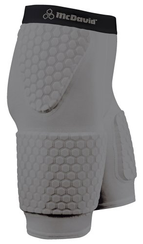 - McDavid Thudd Hexpad with Extended Thigh (Gray, Large)
