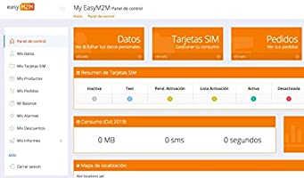 Easy M2M Tarjeta SIM para Dispositivos IoT/M2M (smartwatch, GPS, domótica) | Incluye €10 de Recarga Inicial | Solo para Empresas