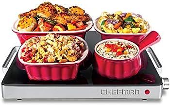 Chefman Compact Glasstop Warming Tray