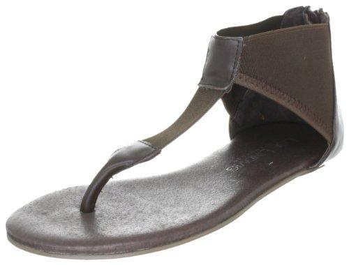Lise Lindvig AJO - Sandalias fashion de cuero mujer marrón - Braun (Dark brown)