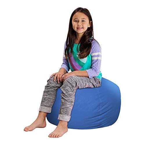 "Posh Stuffable Kids Stuffed Animal Storage Bean Bag Chair Cover - Childrens Toy Organizer, Medium 27"" - Solid Royal Blue"