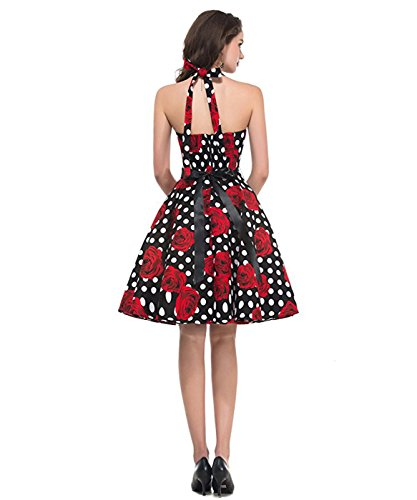 Wiggle Cocktail For Dress C Retro Dress Borje Party Women's Halter HqwttB
