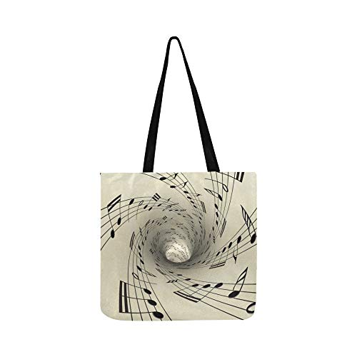 - Musical Notes On Old Vintage Paper Canvas Tote Handbag Shoulder Bag Crossbody Bags Purses For Men And Women Shopping Tote