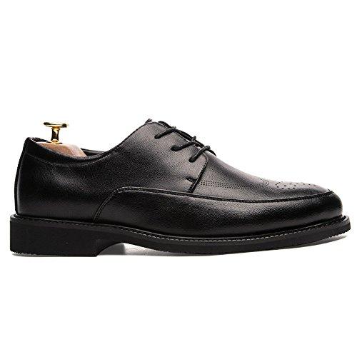 Traspirante Brogue Pelle Scarpe Scarpe da Uomo Antiscivolo Fashion Oxford da in Nero PU Cricket Casual Business BPxqzTw1w