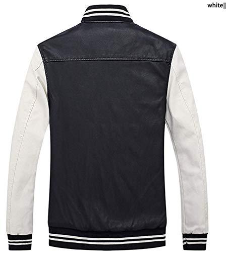 Da Uomo Pelle Velluto Cerniera In Giacca Blau Vintage Con Cappotto Plus pelle Biker Rm Ragazzo Eco Caldo Invernale ptI1q