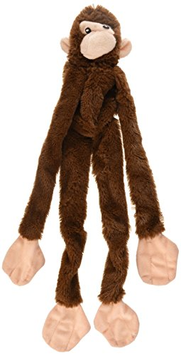Ethical Plush Skinneeez Monkey 16-Inch Stuffingless Dog Toy - Assorted Colors - 16in Dog Toy