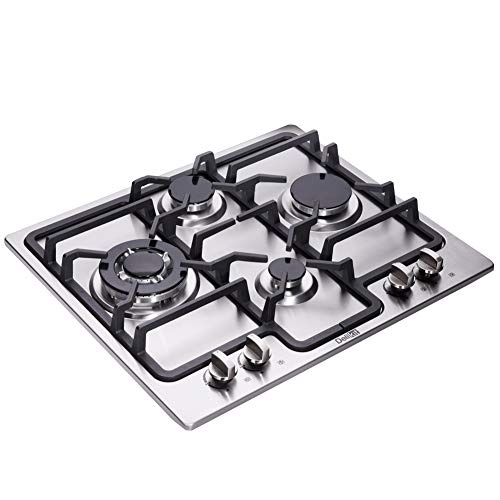 DK245-AA04 24 inch gas cooktop gas hob stovetop 4 burners LPG/NG Dual Fuel 4 Sealed Burners Stainless Steel Built-In gas hob 110V AC pulse ignition gas cooktop gas stove