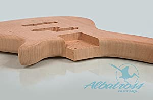Albatross Guitars   Mahogany Body   Bolt On Neck   DIY Electric Bass Guitar Kit B004
