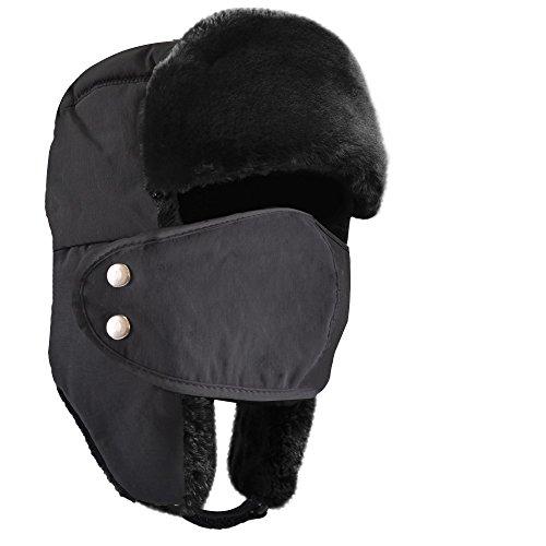 9019f268277e5 Active Saint Winter Trooper Trapper Hat Windproof Mask Waterproof Exterior Ear  Flap Chin Strap Faux Fur