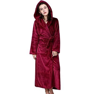 Dolloly Fleece Robe Bathrobe Hooded Kimono Robe Terry Cloth For Women