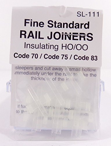 Insulated Joiners - Peco SL-111 HO Code 83/75/70 Insulated Rail Joiner 12 Pack