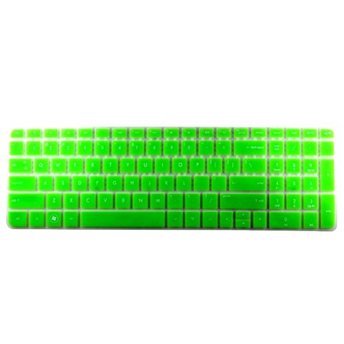 86 Key Us Keyboard (HP Pavilion New G6(With Number Key) Translucent Keyboard Protector Skin Cover US Layout Green (Notice: Check your keyboard if it has Number Key at the right side))