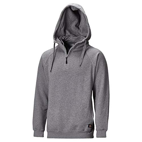 Dickies Mens Elmwood Hooded Cotton Rich Sweatshirt/Hoodie (L) (Grey - Sweatshirt Dickies Cotton
