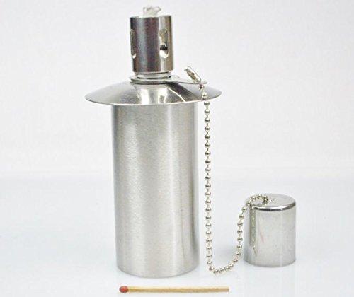 Öllampe Einsatz - Ölbehälter Gartenfackel - Edelstahl - 100 ccm Inhalt - - Ein Qualitätsprodukt von Hannas Laden