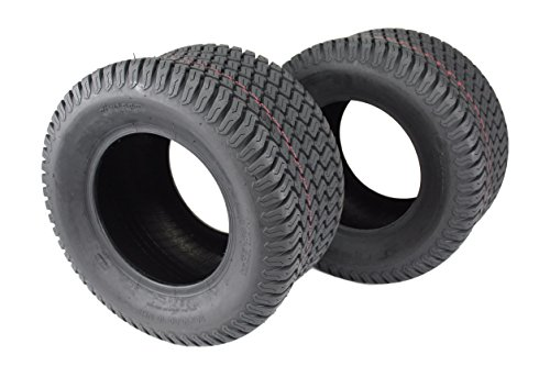 Antego Set of Two 20x10.00-10 4 Ply Turf Tires for Lawn & Garden Mower 20x10-10 by Antego