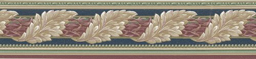 - Brewster 137B6166150 Borders and More Leaf Scroll Wall Border, 5.125-Inch by 180-Inch