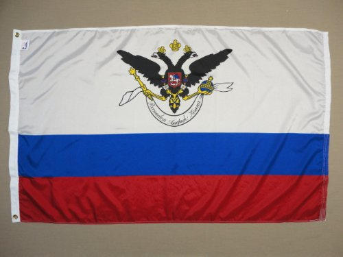 Russian American Company Indoor Outdoor Printed Nylon Historical Flag Grommets 3′ X 5′ For Sale