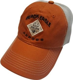 Black Eagle Arrows Legacy Mesh Hat - One Size fits All, Burnt Orange, White, One Legacy-Hat-0002