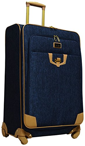Nicole Miller Paige Collection 28' Expandable Luggage Spinner (Navy)