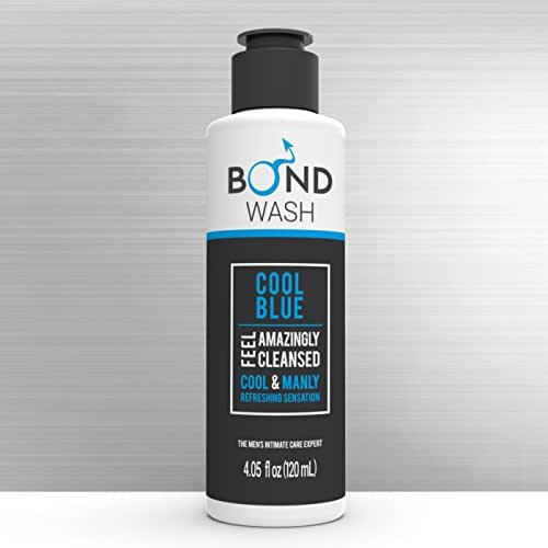 BOND MEN'S INTIMATE WASH 4.05 Fl. Oz. (120mL) The Best Hygiene Care Products for Men. Confidence Booster & Good for Daily-use. (Cool Blue)