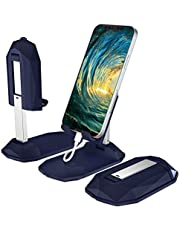 Cell Phone Stand for Desk, Witzon Cute Adjustable Cell Phone Holder Fully Foldable Portable Phone Dock Hands Free Charging Stand Compatible with All Mobile Phone for Office Desktop Table Bed