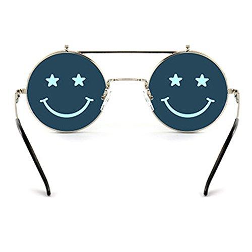 Frame Flip Round soleil Hommes Lens Métal Femmes C5 Lunettes Steampunk de up pour Juleya HqwUIxgnX