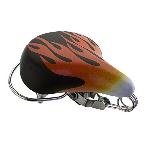 (Fenix Cycles Beach Cruiser Vinyl Web Spring Bike Saddle/Seat Flames )