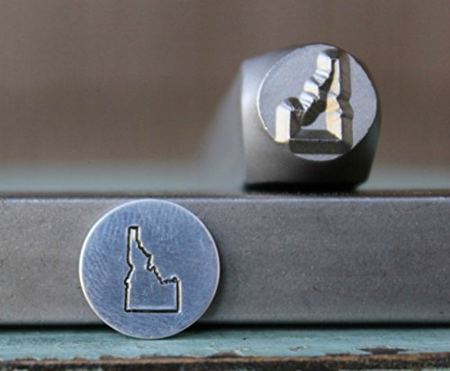 8mm Idaho US State Metal Punch Design Jewelry Stamp