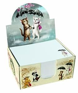 Santoro Eclectic - Taco de notas, diseño de gatos con paraguas