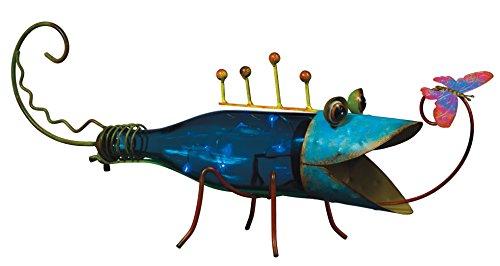 Regal Art &Gift Solar Bottle Lizard, Blue