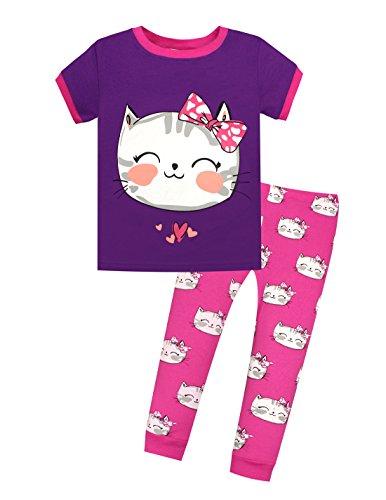 UPC 652577596747, Viobarmo Little Girls Pajama Set Kids T Shirt Top & Pants 100% Cotton Sleepwear (2-7 Years)