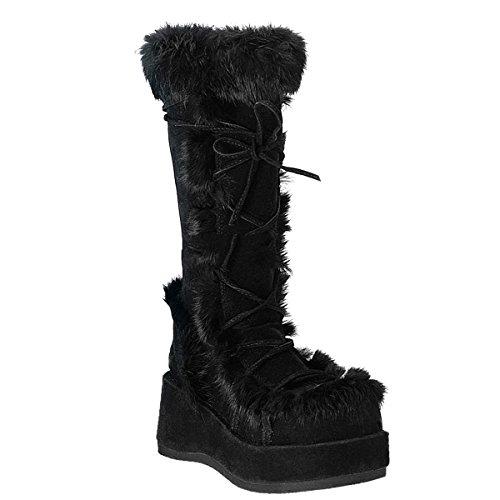 Demonia Cubby-311 - Gothic Punk Industrial Plateau Fell Stiefel 36-42
